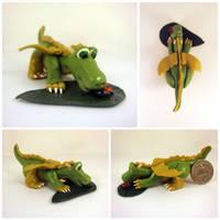 Dragon with bug by Koreena