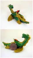 Dragon with flower by Koreena