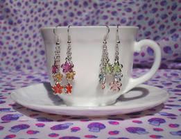 Cute flower earrings by Koreena