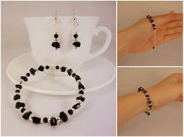 Black and silver bracelet by Koreena