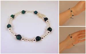 Silver and stone bracelet by Koreena