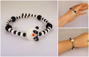 Glass panda bracelet by Koreena