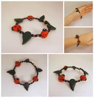 Ladybug bracelet by Koreena