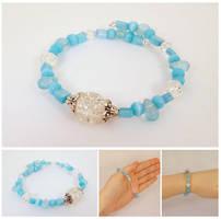 Ice Princess bracelet 1 by Koreena