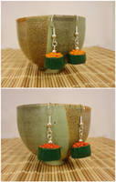 Gunkan maki earrings by Koreena