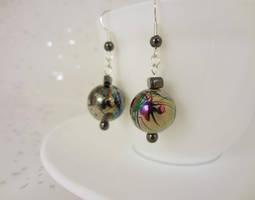 Splatter earrings by Koreena
