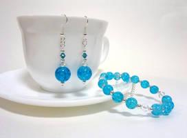 Blue crackle commission by Koreena