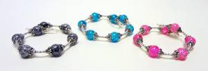 Crackle bead bracelets by Koreena
