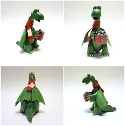 Winter Gift Dragon by Koreena