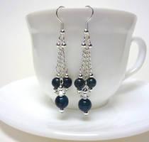 Australian jasper and silver earrings by Koreena