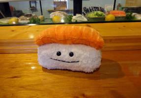 Salmon nigiri plush by Koreena