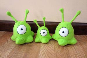 Brain slug trio by Koreena