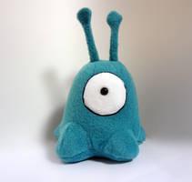 Teal alien slug by Koreena