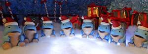 A line of mini quaggans by Koreena
