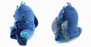 Very Blue Sleepy Dragon by Koreena
