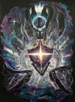 Dark Star Kha'zix (colored scratchboard) by mich-spich
