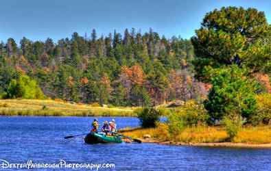 Boating on the Mountain Lake by brodex1965