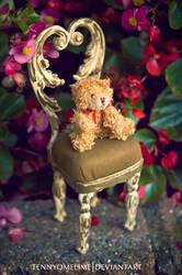 Teddy Bear on a Chair by tennyomelime