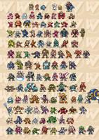 Mega Man Sprites 8-Bit V2 by abonny