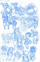 sketchbook::crash and homestuck sketches by Moguryuu