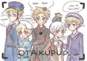 Hetalia: The Nordic's Family Picture by OtakuPup