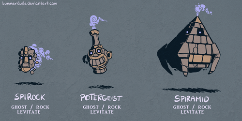 Fakemon - Stoneghosts by BummerForShort
