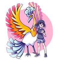 Trainer with Pokemon Friend by weilis