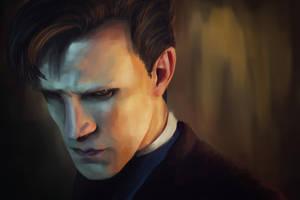 Matt Smith as the Doctor by TARSKYN