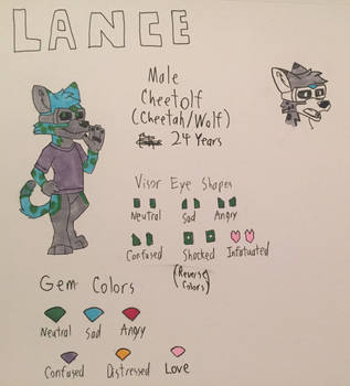 Lance Traditional Reference Sheet by Lancewing1994