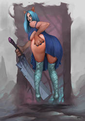 blue skirt ( opened) by Motolog