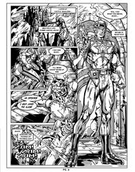 Buck Rogers fan Comic Page 2 gray by CapitalComicsStudios