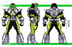 Fallout color Model Sheet by CapitalComicsStudios
