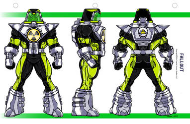 Fallout color Model Sheet by CapitalComicsStudios
