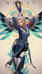 Mercy (Combat Medic Ziegler) Overwatch by Hanseul-Kim