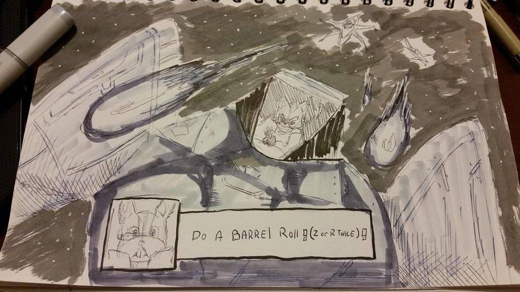 Do a barrel roll! Ink- Twenty by zeldalegends4525