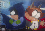 Mysterion and the Coon by SlenderDave666