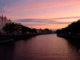 Dublin at sunset by Orpheusmyth