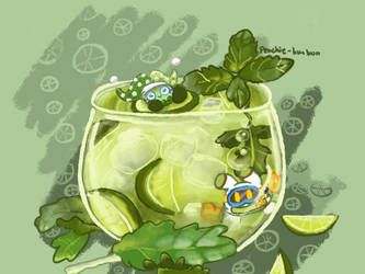 Minty Marxolor Green Iced Tea by PK-BumbleBee