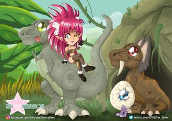 Dino Gang by Kittyillustrations