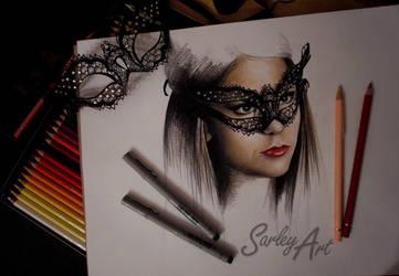 Katherine Pierce by Sarley-Art
