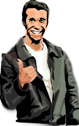 the Fonz by RAPHY