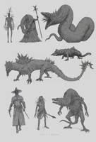 Creature Design by Kevcatalan