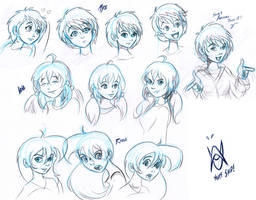 the girls sketches by MisterEye