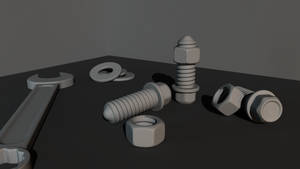 Nuts and Bolts - Highpoly Practise by swatty007