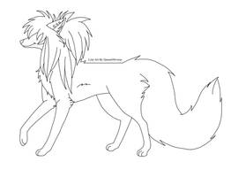 Scene Dog Lineart by QueenObvious