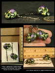 Tiny Dragon Hair Pins by CatharsisJB
