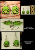 Turtle earrings by CatharsisJB