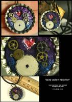 Gear Heart Pendant by CatharsisJB