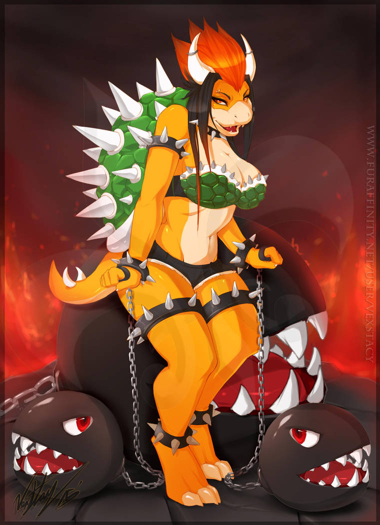 Femme Bowser by Vexstacy
