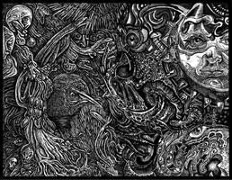 dark tangle weed by Deborah-Valentine